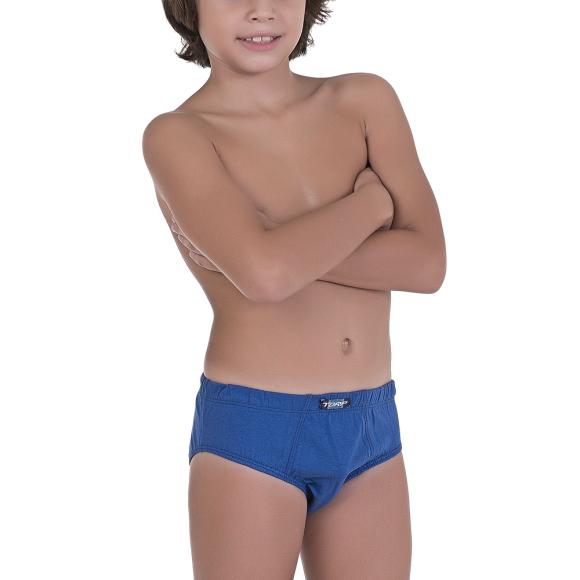CUECA INFANTIL SLIP ALGODAO COM 3 PEÇAS
